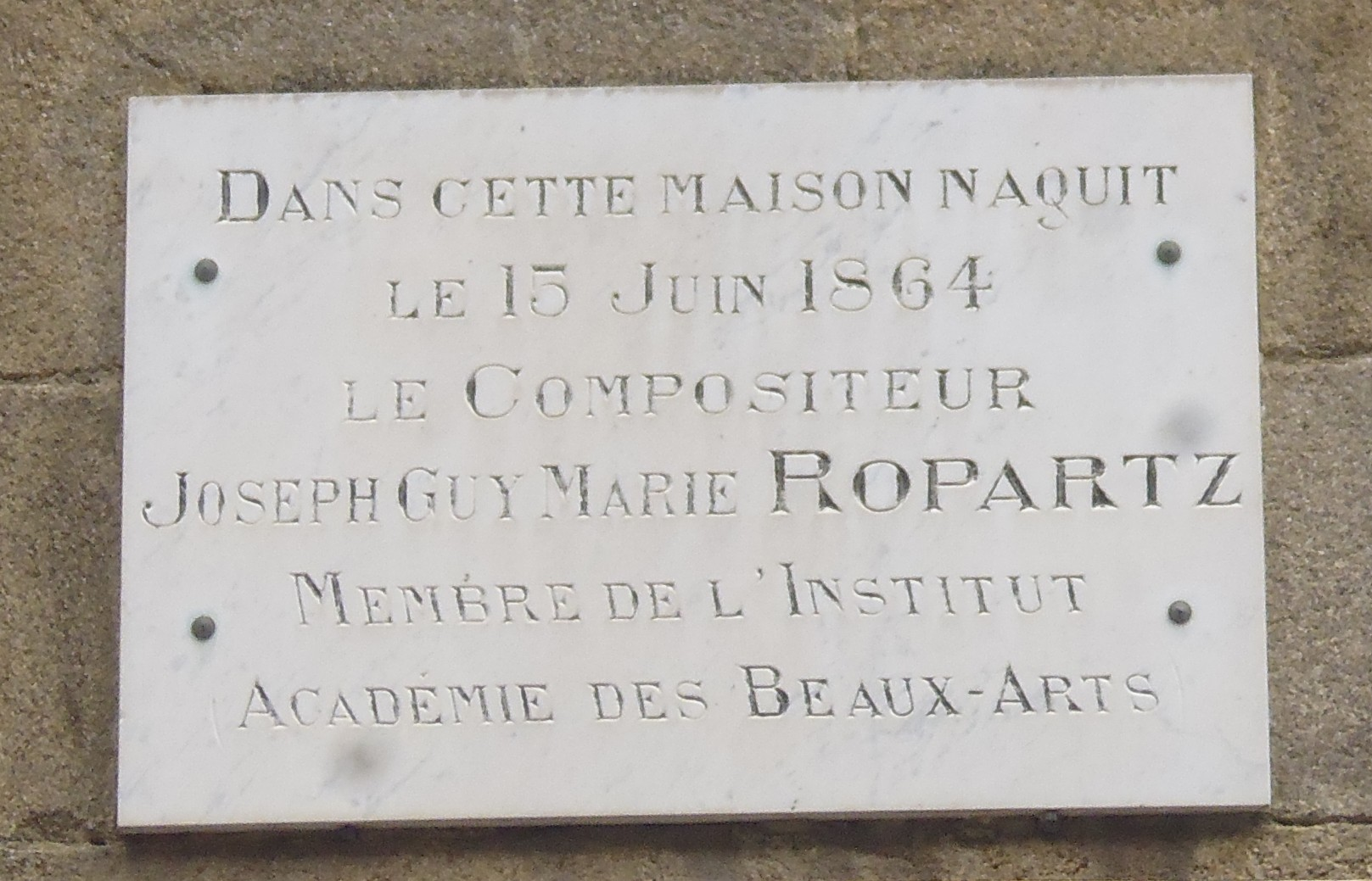 plaque ropars 31 rue ND
