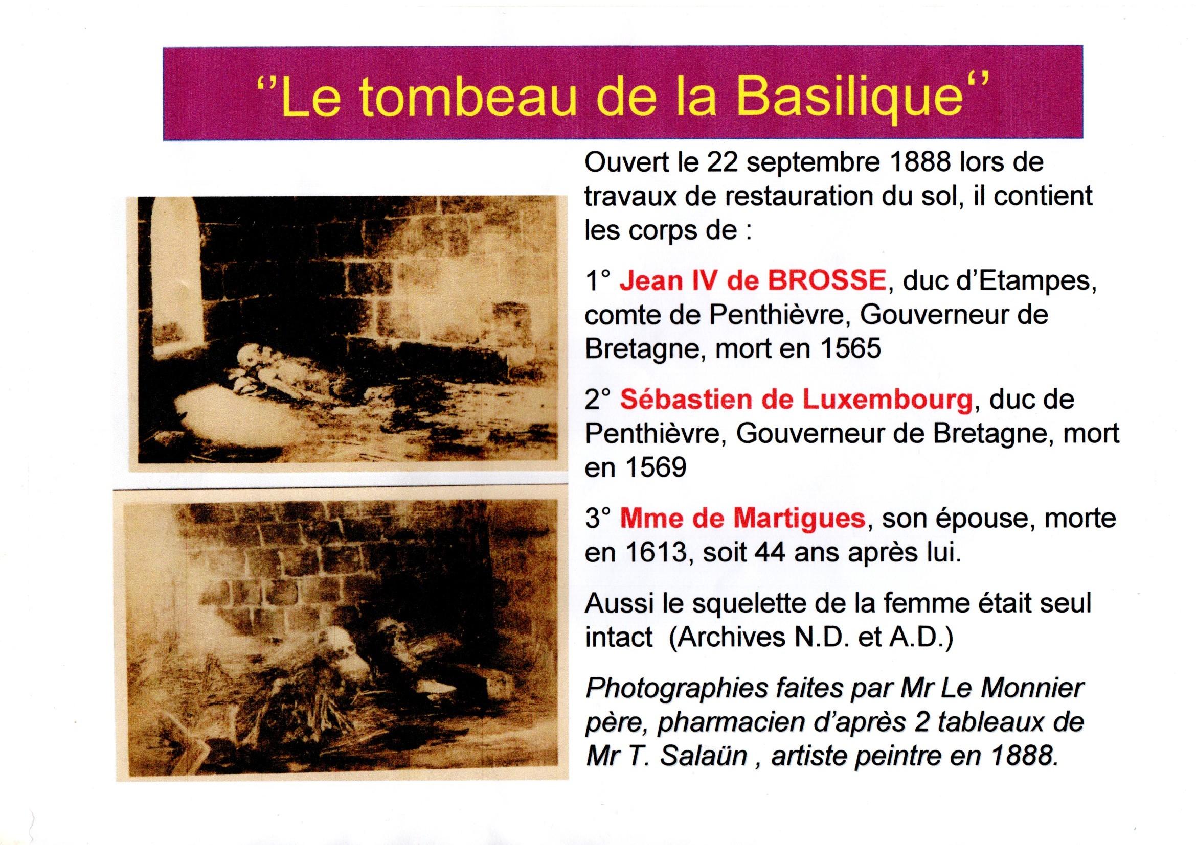 Le tombeau de la basilique