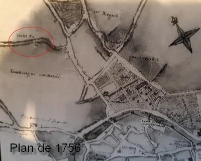 Castel-Pic, plan de Guingamp de 1756