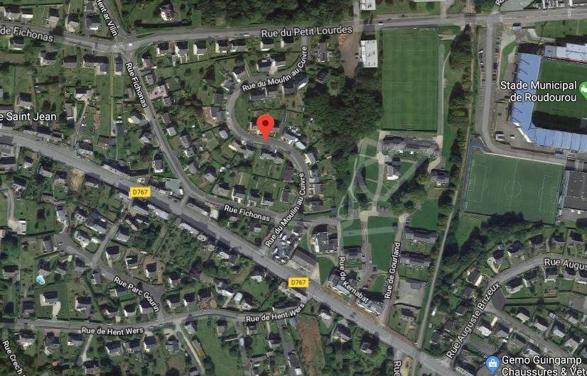 Rue du moulin au cuivre à Guingamp (Google Maps)